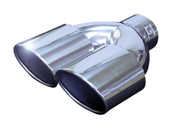 宅配便 本州 四国 九州送料無料 ステンレス製 オーバルマフラーカッター メッキシルバー 銀 FJ1057-sv 外装 ドレスアップ 楕円 2本出し 汎用品 年末年始大決算 ハス切り 毎週更新 191