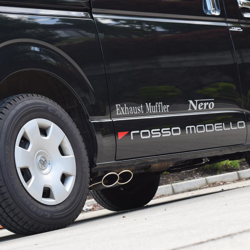 【車検対応】ロッソモデロ DUSSEL NS-T マフラーハイエース TRH200V マフラー 2.0L ガソリン車 2WDオーバルデュアルテール サイド出し マフラーハイエース 200系 パーツ