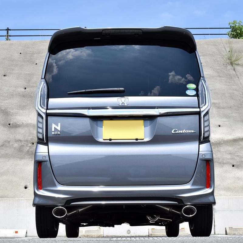 【車検対応】ロッソモデロ DUALIST EX マフラーN-BOX カスタム マフラー 2WD JF3 マフラーNBOX マフラー NA専用 オーバルテール左右出しNボックス パーツ 無限エアロ対応