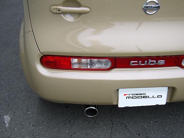 日産 キューブ DBA-Z12 マフラー ロッソモデロ GT-8 CUBE
