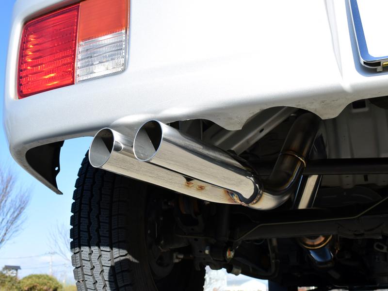 Style-Bay 昭和GP W出し マフラーエブリィバン DA17V ターボ2WD 4WD 共用競技用 装着後公道走行不可