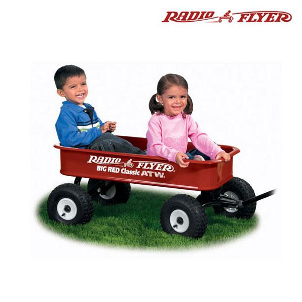 あす楽【送料無料】【RADIO FLYER ラジオフライヤー】ビッグレッドATW タイヤ付 ワゴン【#1800】1801Big Red Classic ATW