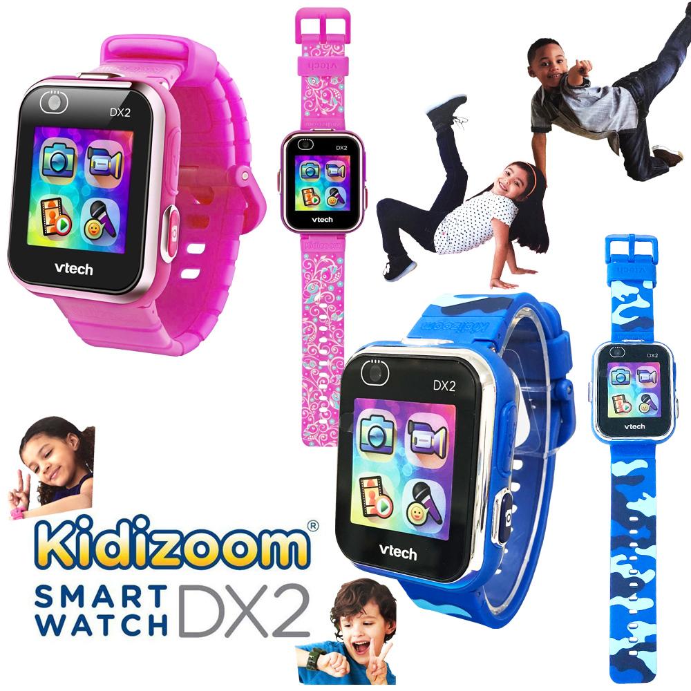 【当店ポイント5倍】【送料無料】【costco コストコ】【Vtech】Kidizoom Smart Watch DX2 ヴィテック キッズズーム スマートウォッチ迷彩柄 ピンク鳥柄