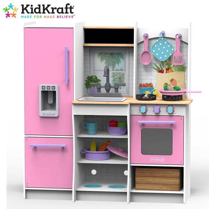 costco コストコ おもちゃ 子ども おままごと キッチン キッドクラフト kidKraft あす楽 Harvest 贈答品 送料無料 Play フレッシュハーベストプレイキッチン #10065 1315623冷蔵庫 ピンク Kitchenあす楽 海外限定 Fresh