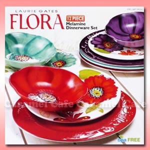 Flora 멜라민제 서빙프레이트 12 피스 세트 05 P30May15