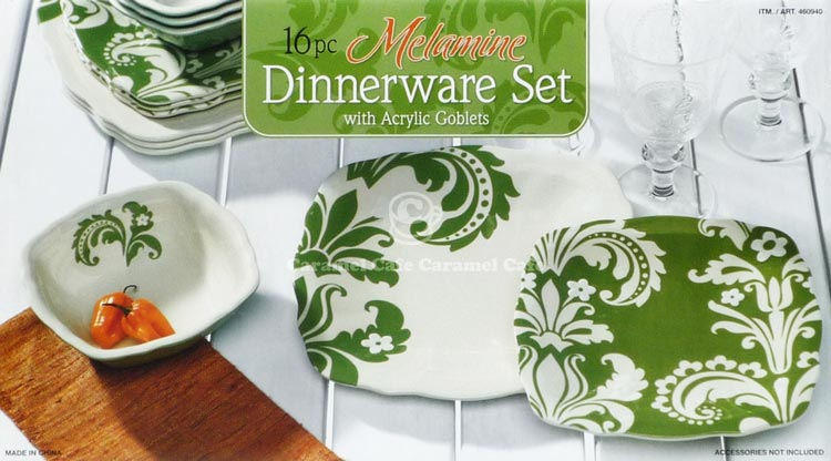 -Heat-resistant temperature-melamine 100-degree acrylic 60 degrees -Enter the number \u2022 Dinner plate x 4 pieces -Sarada plate x 4. Bowls x 4 pieces & caramelcafe | Rakuten Global Market: 16 pc Dinnerware set made of ...