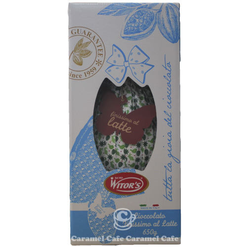 Witor's Easter egg chocolate 650 g Bianco Cuore FLAME EGG MILK CHOC