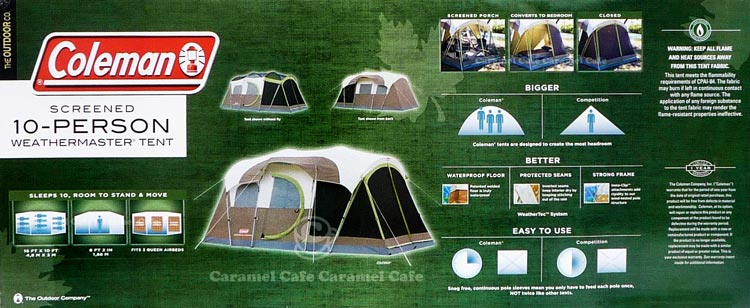 -Weight approx. 16.1 kg -Material polyester FRP and steel -Country of origin Bangladesh [Coleman Coleman] SCREENED ? 10 person family tent for 488 ... & caramelcafe | Rakuten Global Market: ? SCREENED ? family tent 10 ...