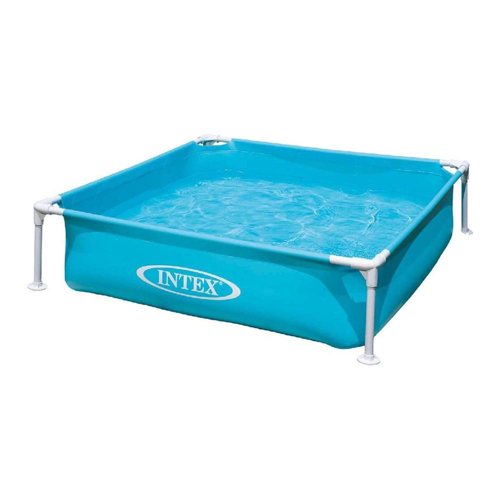 プール 家庭用プール 水遊び ビニールプール 70%OFFアウトレット アウトレット インテックス ミニフレームプールブルー 出荷 送料無料 122×122×30cm INTEX