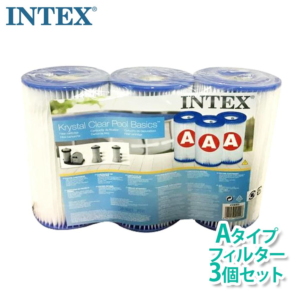 メーカー再生品 プール フィルターポンプ フィルター 送料無料 新入荷 流行 INTEXインテックス 本体別売り フレームプール用浄水器クリスタルクリア 1~2週間に一度の交換がお勧めです カートリッジフィルター3本セット