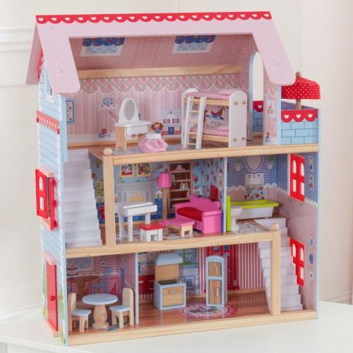 送料無料 KidKraft Chelsea Doll Cottage キッドクラフト チェルシー ドール コテージ 正規品 おままごと 木製 おもちゃ 【ラッキーシール対応】