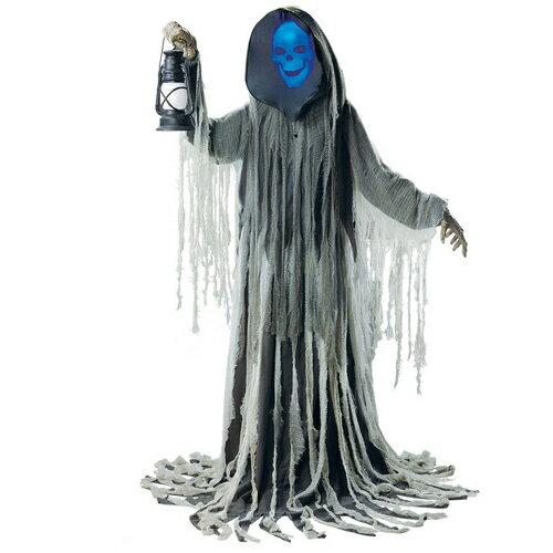 【当店ポイント5倍】あす楽【送料無料】【ハロウィン Halloween】ファントム モーションセンサー付 全長193cm亡霊 幽霊 アンデッド モンスター ゴーストLOOMING PHANTOMジャックオーランタン お化け屋敷 怖い コスプレ