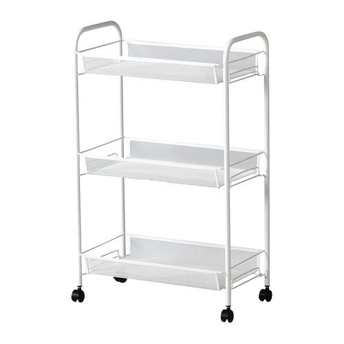 Three steps of IKEA IKEA HORNAVAN racks assembling-type caster wagon kitchen kitchen wagon caster washroom assistance wagon storing wagon