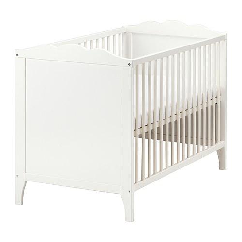 送料無料【IKEAイケア】HENSVIK白ホワイトベビーベッド+ウレタンフォームマットレスのセットお祝い出産祝いにも赤ちゃん用ベッド