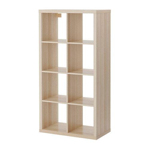 【送料無料】【当店ポイント5倍】【IKEAイケア】KALLAX シェルフユニット 77×147cm【ホワイトステインオーク調】