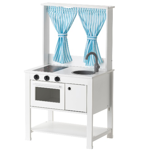 あす楽 送料無料【IKEAイケア】SPISIG スピスィグミニキッチン おままごとキッチン カーテン付き