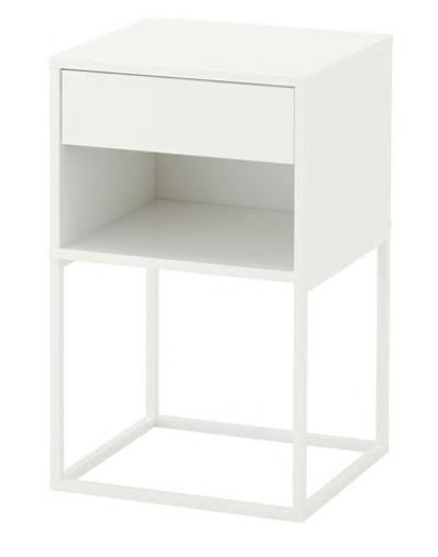 【送料無料】【当店ポイント5倍】【IKEAイケア】VIKHAMMER ヴィークハムメルベッドサイドテーブル 【ホワイト】