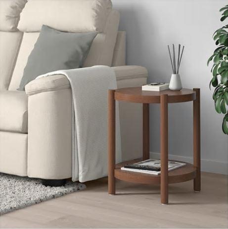 【送料無料】【IKEAイケア】LISTERBY リステルビーサイドテーブル ブラウン
