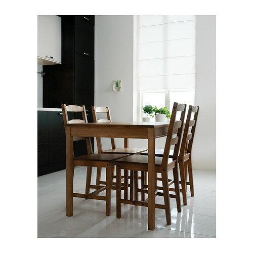 【IKEAイケア】JOKKMOKK テーブル&チェア4脚 アンティークステインダイニングテーブルリビングに05P04Jul15ヨックモック食卓木製