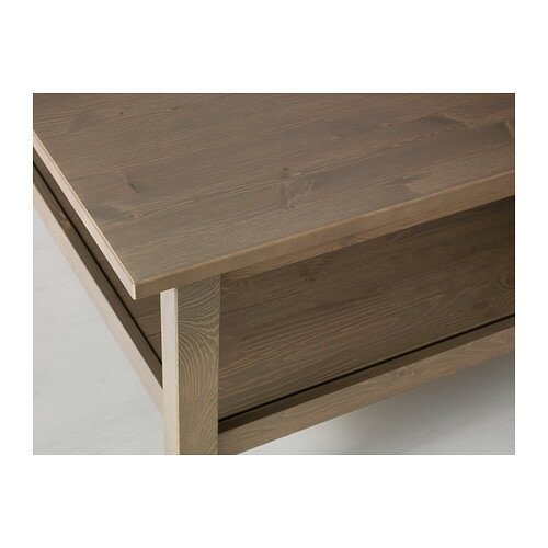 Hemnes Coffee Table Black Brown 90x90 Cm: Caramelcafe: HEMNES Coffee Table Grey-brown 90 X 90
