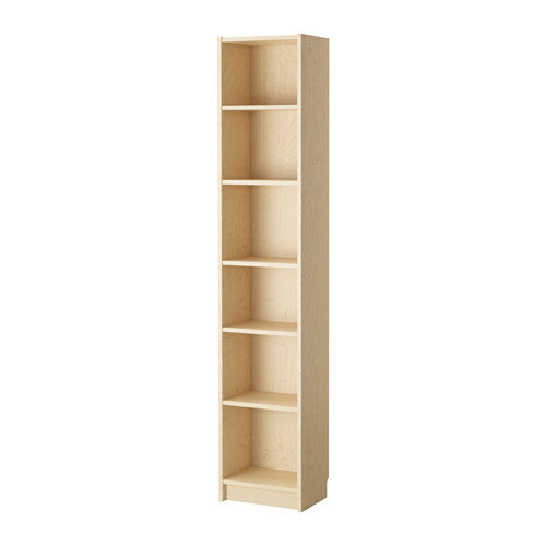 【送料無料】【IKEAイケア】BILLY ビリー書棚 ホワイトステインオーク材突き板(バーチ) 40x28x202cm