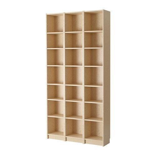 【送料無料】【当店ポイント5倍】【IKEAイケア】BILLY ビリー書棚 ホワイトステインオーク材突き板(バーチ) 120x237x28cm