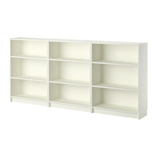 【送料無料】【当店ポイント5倍】【IKEAイケア】BILLY ビリー書棚 ホワイト 240x106x28cm
