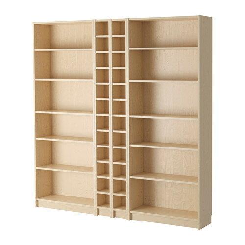 【送料無料】【IKEAイケア】BILLY ビリー書棚 ホワイトステインオーク材突き板(バーチ) 200x202x28cm
