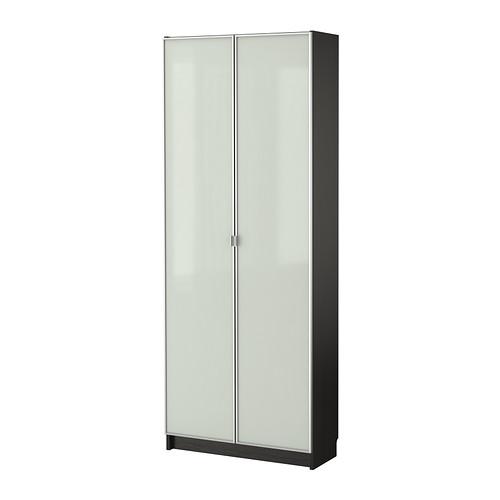 Billy And Morliden Bookcase Black Brown 80x202x28cm02p13nov14