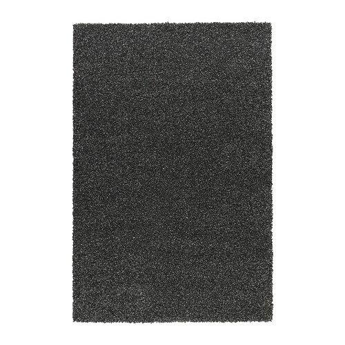 夏休みセール【IKEAイケア】ALHEDE ラグ パイル長 160×240cm 【ブラック】05P04Jul15