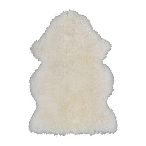 【送料無料】【IKEAイケア】LUDDE 羊皮 【ホワイト】