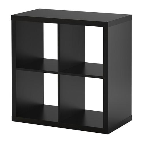 【送料無料】【IKEAイケア】KALLAX シェルフユニット 77×77cm【ブラックブラウン】