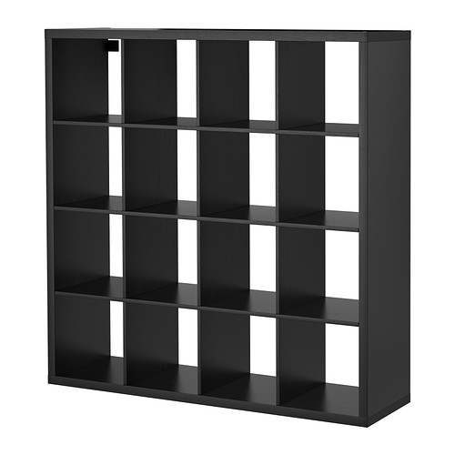 【送料無料】【IKEAイケア】KALLAX シェルフユニット 147×147cm【ブラックブラウン】
