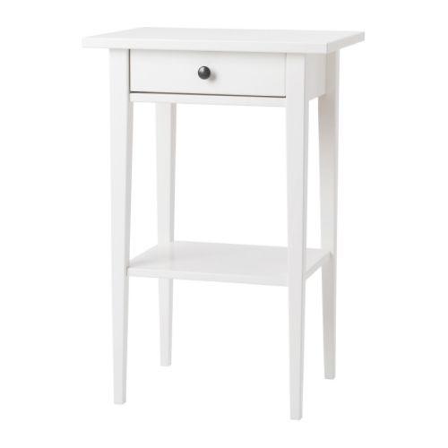 【送料無料】【当店ポイント5倍】【IKEAイケア】HEMNES ベッドサイドテーブル 46x35cm【ホワイト】