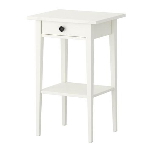 【送料無料】【当店ポイント5倍】【IKEAイケア】HEMNES ベッドサイドテーブル 46x35cm【ホワイトステイン】
