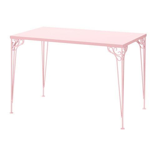 【IKEAイケア】FALKHOJDEN デスク 110x65 cm【ピンク】