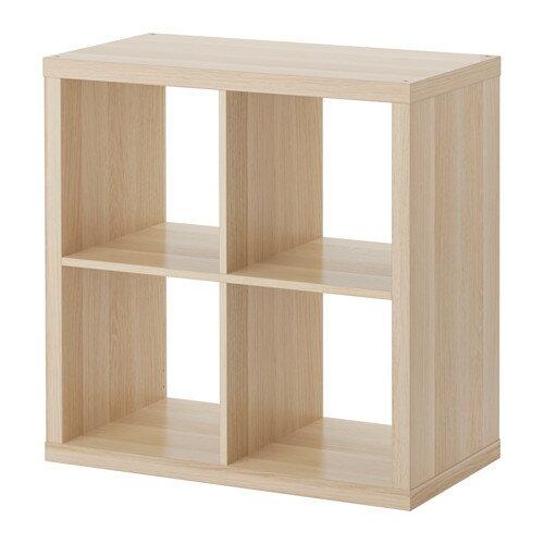 【送料無料】【当店ポイント5倍】【IKEAイケア】KALLAX シェルフユニット 77×77cm【ホワイトステインオーク調】