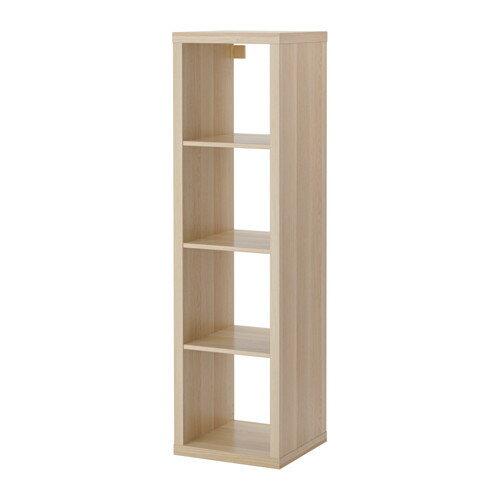 【送料無料】【当店ポイント5倍】【IKEAイケア】KALLAX シェルフユニット 42×147cm【ホワイトステインオーク】