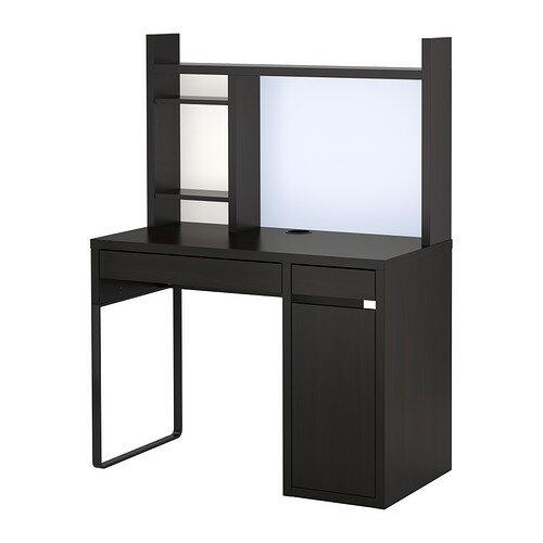 【送料無料】【当店ポイント5倍】【IKEAイケア】MICKEミッケ ワークステーション ブラックブラウン105×50×140cm