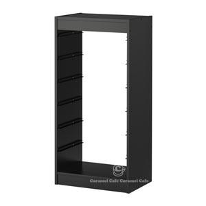 【送料無料】【当店ポイント5倍】【IKEAイケア】トロファスト 子供用家具TROFASTフレーム, ブラック(80251886)F-H-BK