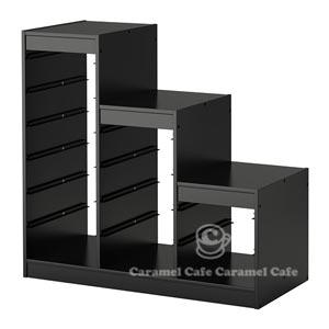 送料無料【IKEAイケア】トロファスト 子供用家具TROFASTフレーム,黒ステップ階段式(60251887)F-Step-BK05P04Jul15 【ラッキーシール対応】