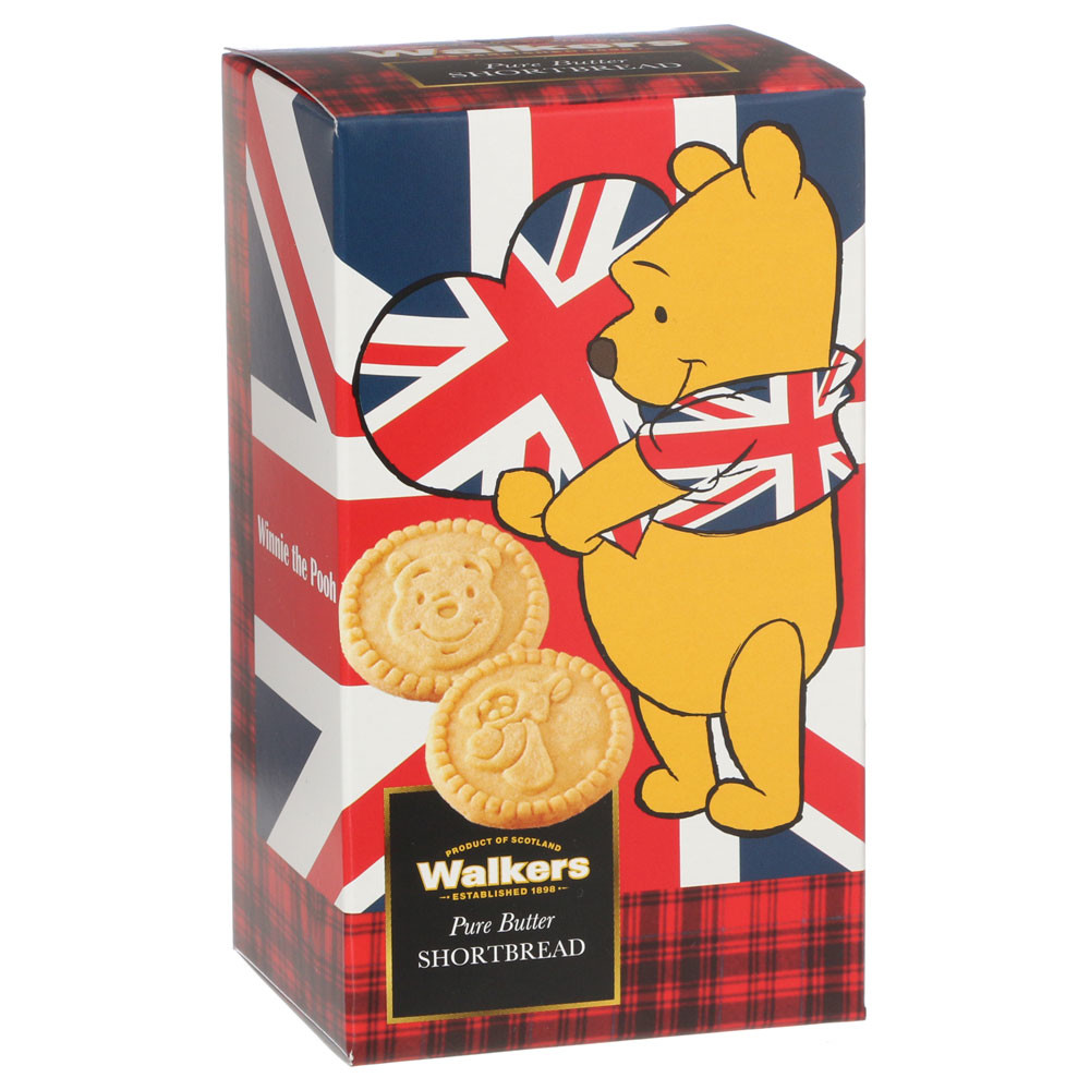 Disney Winnie the Pooh shortbread (cookies) 110 g right for Scottish gifts! Cute! Individual packaging buttercookiewhiteder