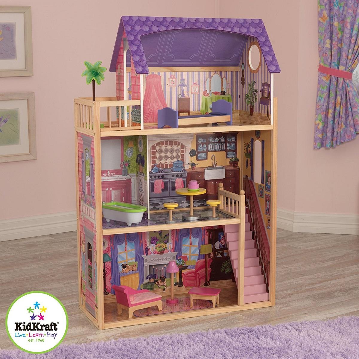 あす楽KidKraft Kayla Dollhouse 木製ケイラドールハウス アメリカ キッドクラフト社製 大型 ドールハウス キッドクラフト バービー人形 リカちゃん おままごと