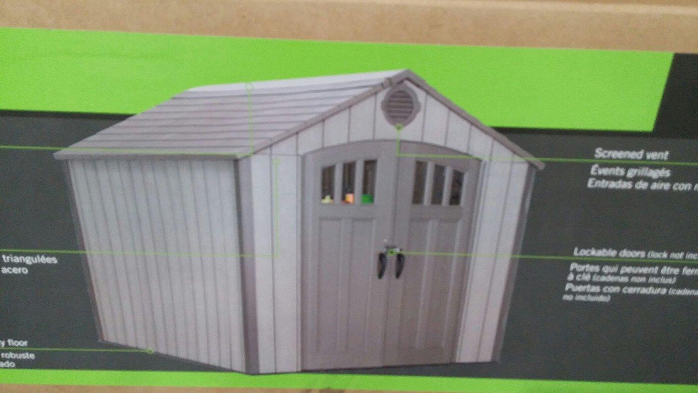 送料無料 LIFETIME 屋外物置 245cm×305cm 日本語説明書付き 屋外倉庫 大型物置返品不可