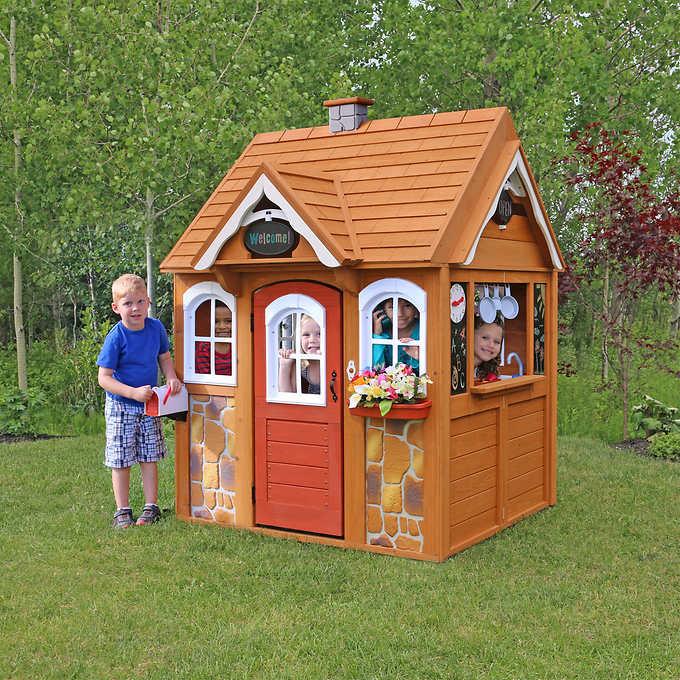 送料無料 Cedar Summit STONEYCREEK 木製 プレイハウス ストーニークリーク Playhouse おままごと 家 キッズハウス シーダーサミット 組立式