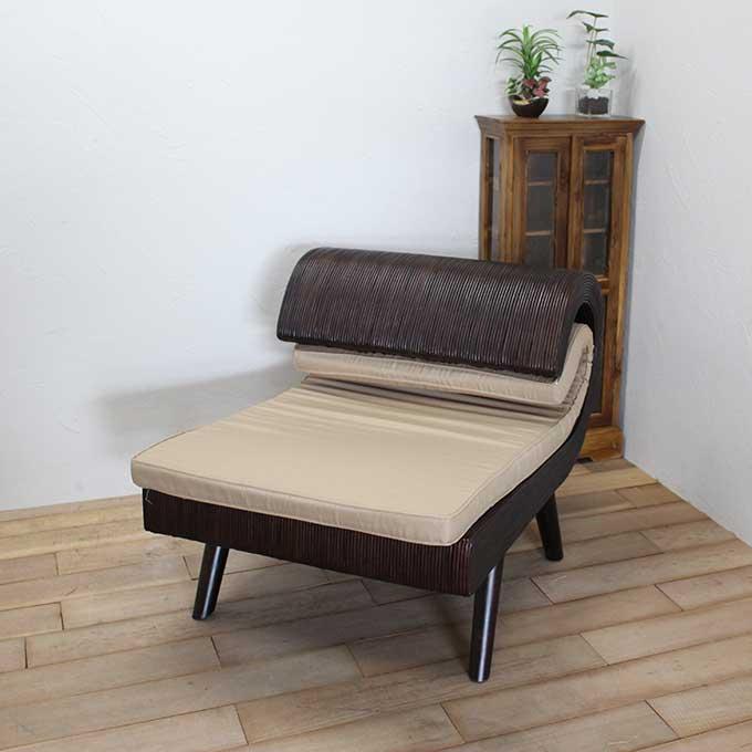ラタン パーソナルチェア おしゃれアジアン家具