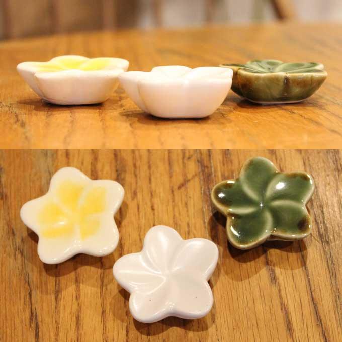 はし置き 箸置き プルメリア 陶器 タバナン焼 バリ雑貨 アジアン雑貨