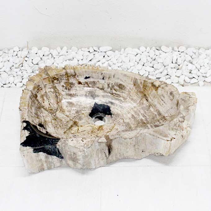 洗面ボウル ウッドストーン 木の化石 W70cm 受け皿 手洗い鉢 洗面台 バリ風 インテリア エクステリア