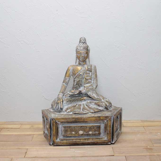 ブッダ 仏陀 仏像 全長80cm アジアン 店舗 オブジェ