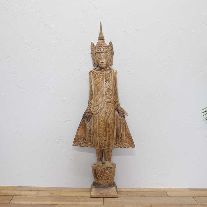 【送料無料】ブッダ 仏陀 仏像 置物 オブジェ 大きサイズ 大きな仏陀オブジェ 全長120cm バリ アジアン モダン オブジェ 置物